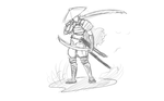 Wandering Samurai (cleaning up a little) by Tentisho