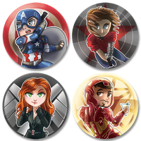 Captain America: Civil War Pin Set! by malphigus