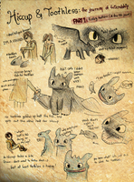 HTTYD Hiccup + Toothless PART1 by vivsters