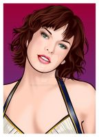 Milla Jovovich by falcon-creative