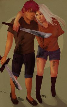 Battle Couple with Bug Guts by propensity
