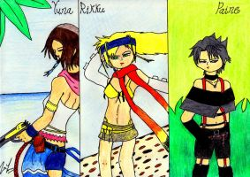 Final Fantasy X 2 Ladies by lordtrigonstar