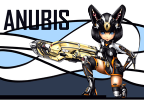 Bot girl Anubis by Pigeon-Capsule