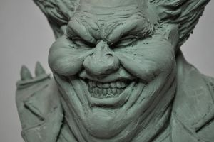 Spawn Clown Bust Chavant WIP Closeup by AntWatkins