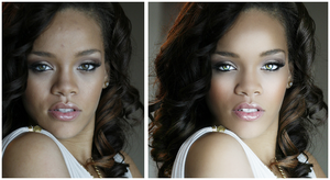 Rihanna Retouch by xlnnocent