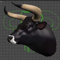 Aurochs Bull's Head by phan-tom
