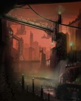 Rundown city by CourtneyBowen