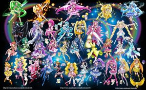 Precure History by Ghost-Hunter157
