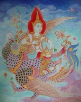 Wind Angel Thai Art by a-thammasak
