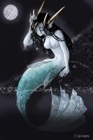 Mermaid at Night by shigure-kisune