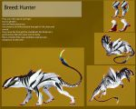Commission: ref sheet Hunter by Black-Wing24