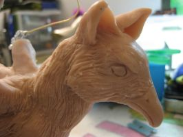 Fox Griffin WIP detail by DragonCid
