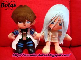 Seto and Kisara plush version by Momoiro-Botan