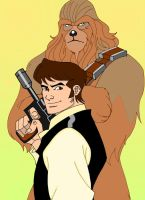 Star wars: Han solo and Chewie by dmtr1981