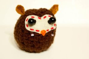 'LOVE'ly Crocheted Owl by maskedrabbitcrafts
