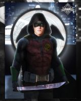 Brandon Spink Damian Wayne  by Spider-maguire