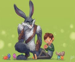Bunny and Jaimie by Scyao