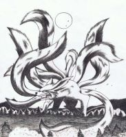 nine tailed fox: 2 by rokhead423