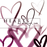 district_ink heart brushes by districtink