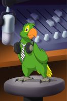 Parrot Podcaster by spooky-freaky-dave
