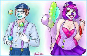 Clowny Couple by Penanggalan