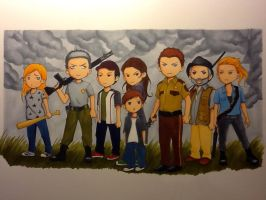 The Walking Dead Chibis by SoWhyCantI