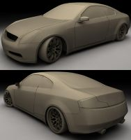 Infinity G35 WIP3 clay by ragingpixels