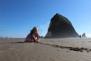 Line in the sand Cannon Beach by jnicol21