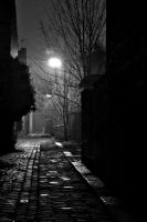 Alleyway. Monochrome by johnwaymont