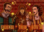 the Fighter, Lover, and Thief by Envos-the-Bouncy