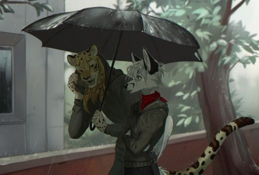 rainy meeting by Orphen-Sirius