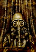 Soldier with Gasmask by La-SaGnE