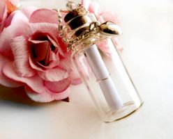 SOLD - Small Glass Message Bottle by crystaland