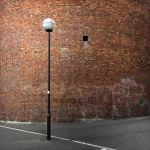 Urban composition around red bricks by Sei-Zako