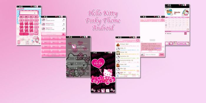 Hello Kitty pinky Theme Android by LadyPinkilicious