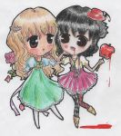 Neve and Marianne Chibis (O.U.T.) by LuciaTan