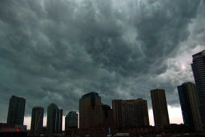 Stormy Toronto by airblue