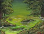 Green Painting 1-2 by Kaze-Chan