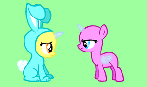 MLP Base: Bunny Costume by Suzzykitty