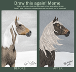Draw this again! Horse in snow by Pukzzi