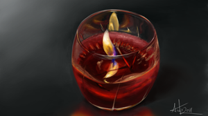 candle speed painting by Anto-Z
