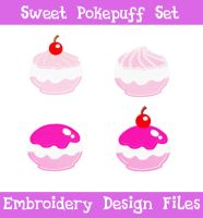 Sweet Pokepuff Set [EMBROIDERY FILES] by TheHarley