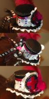 Gothy Nurse Mini Top Hat by NoFlutter