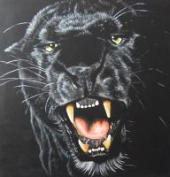 Black Leopard Painting by JonMckenzie