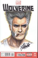 Clint Eastwood as Wolverine signed by Stan Lee by jenchuan