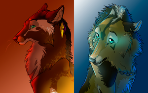 Coloured Headshots by Edenfur