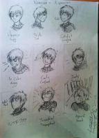 Narcisse's facial expressions ( paper 1 ) by KangooNoh