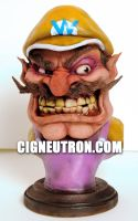 Wario Bust by cigneutron