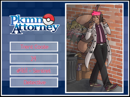 [PKMN-Attorney] Detective Trent Coate by SacredLugia