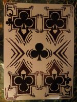 Five of Clubs - Hectic by CardCemetary